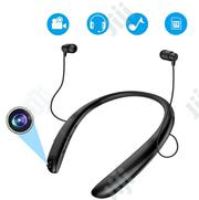 Bluetooth Headsets With Video Recording Camera, Neckband Bluetooth | Photo & Video Cameras for sale in Lagos State, Ikeja