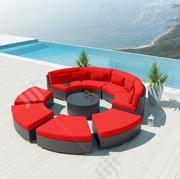 Beautiful Red Circle Piato Rattan Sofa For Luxury Beautification | Manufacturing Services for sale in Abuja (FCT) State, Central Business District