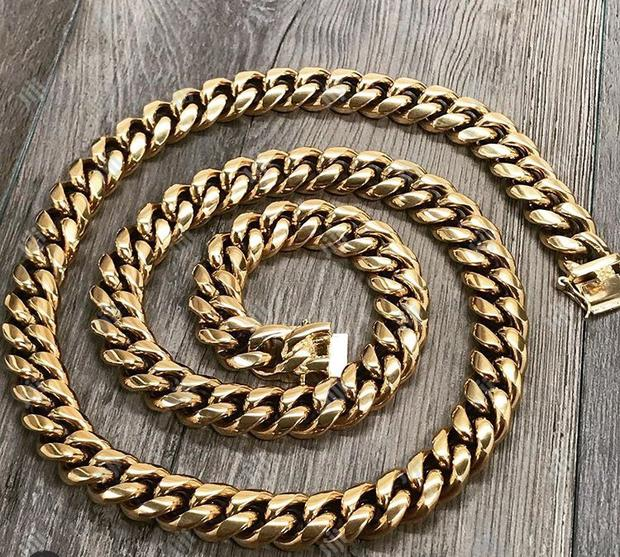 Cuban Gold Necklace Chain Available as Seen Order Yours Now