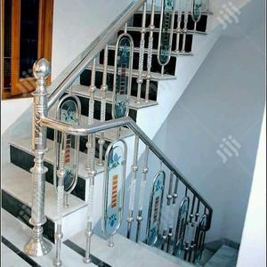 Stainless Handrails With Glasd