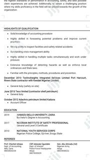 HSE Officer   Management CVs for sale in Rivers State, Port-Harcourt