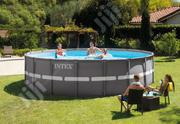 18 Feet Round Ultra Metal Frame Swimming Pool With Ladder And Filter | Sports Equipment for sale in Lagos State, Lagos Mainland