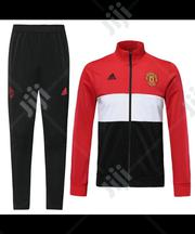 Manchester United Official 2019/20 Black Red Tracksuit Pants. | Clothing for sale in Lagos State, Surulere