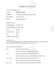 Advertising Marketing CV | Advertising & Marketing CVs for sale in Abuja (FCT) State, Katampe