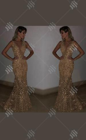 Long Mermaid Sequins Gold Silver Prom Party Evening Dress Ball Gown