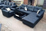 L-Shaped Sofa With a Single Seater Chair and Table - Leather Couches | Furniture for sale in Lagos State, Lagos Mainland
