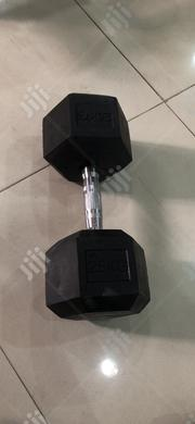 A Pair Of 25kg Rubber Dumbell 1300 Per Kg | Sports Equipment for sale in Lagos State, Ikoyi