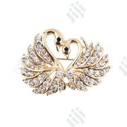 Rhinestone Crystal Swans Heart Pin Brooch | Jewelry for sale in Lagos State, Surulere