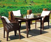 Outdoor Dinning Rattan-woven Piece W/ Cushion | Landscaping & Gardening Services for sale in Lagos State, Ikeja