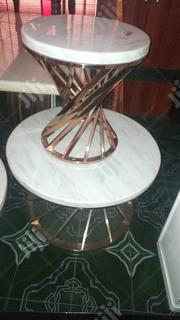 Set Of Gold Round Marble Center Table | Furniture for sale in Lagos State, Surulere