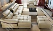 Luxury L Shaped Sofa With Center Table and a Otto Man | Furniture for sale in Oyo State, Ibadan