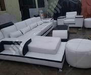 Mordern Classic L Shape Sofa With Center Table Two Otto Man | Furniture for sale in Oyo State, Oyo