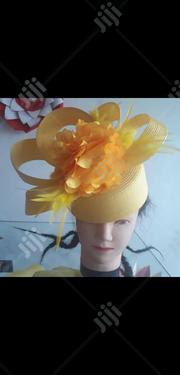 Women Formal Designer Hat In Yellow | Clothing Accessories for sale in Lagos State, Lagos Island