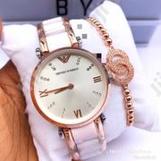 Exclusive Ceramic Emporio Armani Wristwatch With Bracelet | Jewelry for sale in Lagos State, Lagos Island