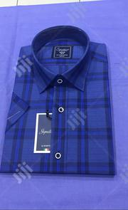 Pure Cotton Short Sleeve Men's Checked Shirts | Clothing for sale in Lagos State, Lagos Island
