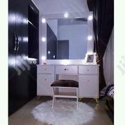 A White Dressing Mirror and Stool | Home Accessories for sale in Lagos State, Alimosho