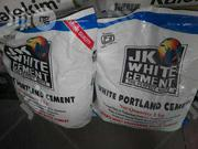Original JK White Cement 5pics Inside One Bag.   Building Materials for sale in Lagos State, Orile