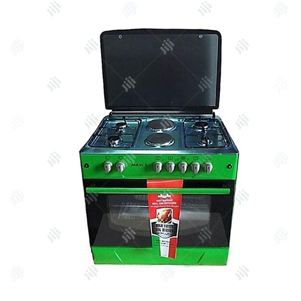 MAXI 90cm 4gas 2electrical Ignition Blue Flame With Oven 2yrs Warranty
