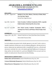 Advertising & Marketing CV | Advertising & Marketing CVs for sale in Oyo State, Ibadan North