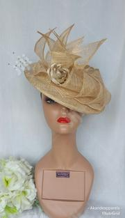 Gold Sinamay Fascinator   Clothing Accessories for sale in Lagos State, Lagos Mainland