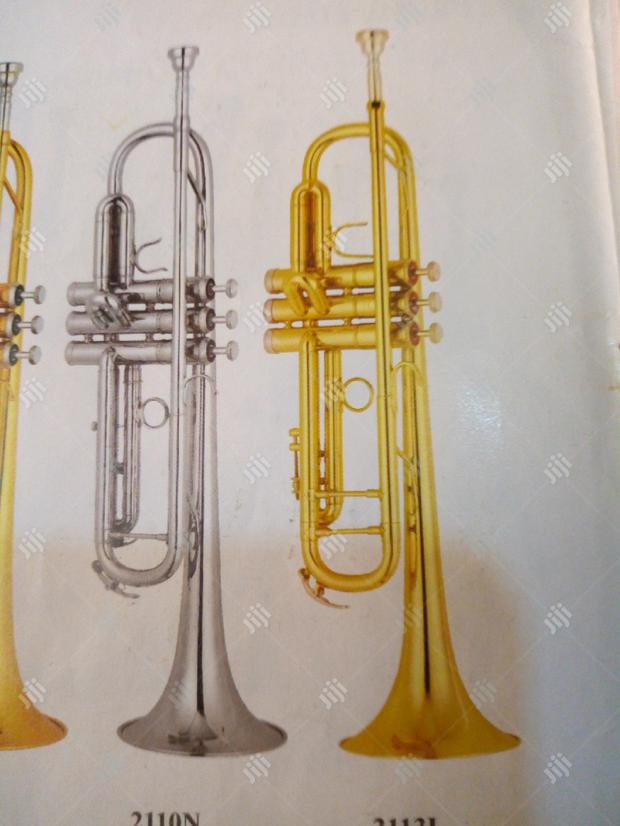 Premier Gold And Silver Trumpet