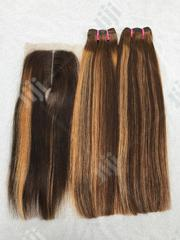 Vietnamese 200grams Super Double Drawn Straight 14inches With Closure | Hair Beauty for sale in Lagos State, Ojo
