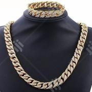 Iced Out Cuban Long Chain and Bracelet | Jewelry for sale in Lagos State, Surulere