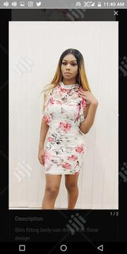 Floral Ruffle Sleeved Body Con Dress | Clothing for sale in Imo State, Owerri