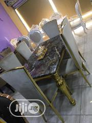 Set Of Gold Marble Dining Table | Furniture for sale in Lagos State, Ojo