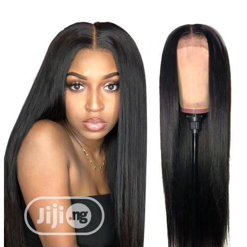 20 Inches Straight Human Hair Wig With Closure