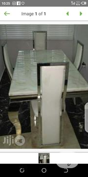 Durable Marble Dinning Table With 4 Chairs | Furniture for sale in Lagos State, Ifako-Ijaiye