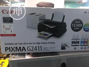 Canon PIXMA G2411 A4 Multi Functional Printer + Additional Black Ink | Printers & Scanners for sale in Lagos State, Ikeja