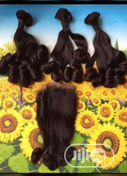 Coily Human Hair With Closure | Hair Beauty for sale in Rivers State, Port-Harcourt