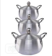 Silver Kitchen Cooking Bellied Pot - Set Of 3 | Kitchen & Dining for sale in Rivers State, Port-Harcourt
