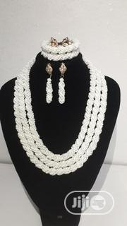White Beaded Necklace Set - 3 Layers | Jewelry for sale in Lagos State, Shomolu