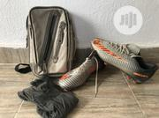A Day Used Soccer Boot Plus Bag And Hose | Shoes for sale in Kwara State, Ilorin West