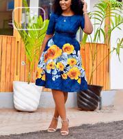 Flowered Ladies Flare Office Gown | Clothing for sale in Lagos State, Gbagada