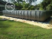 32ft X16ft X 52in Ultra Frame Rectangular Pool With Sand Filter Pump | Sports Equipment for sale in Lagos State, Ikeja