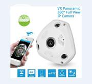 "V380 360"" Panoramic HD Wifi VR Camera, Fisheye P2P IP Camera 