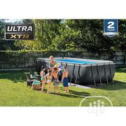 18ft X 9ft Ultra Frame Rectangular Pool With Sand Filter Pump | Sports Equipment for sale in Lagos State, Ikeja