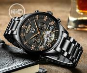 Kinyued Top Brand Mechanical Watch Luxury Men Business Stainless Steel | Watches for sale in Lagos State, Ikeja