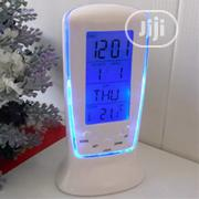 Blue LED Alarm Clock With Thermometer Birthday Music | Home Accessories for sale in Lagos State, Lagos Island