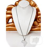 Africa Map Chain and Pendant Silver | Jewelry for sale in Lagos State, Surulere