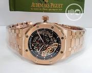 Audemars Piguet Rose Gold Transparent Wrist Watch | Watches for sale in Lagos State, Lagos Mainland