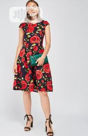 Real Form London Cap Sleeve Rose Print Dress Sizes 8 10 12 | Clothing Accessories for sale in Lagos State, Shomolu