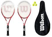Elite Series Wilson BLX Tennis Racket + 3 Balls + Full BLX Cover Bag | Sports Equipment for sale in Abuja (FCT) State, Maitama