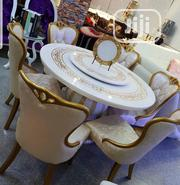 Gold Marble Dinning and Chairs | Furniture for sale in Lagos State, Ojo