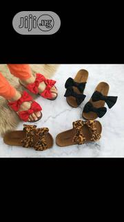 Ladies 2 Bow Tie Knot Flat Slippers | Shoes for sale in Lagos State, Lagos Island