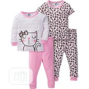 Gerber Cotton Pajamas - 4pc Set | Children's Clothing for sale in Lagos State, Surulere