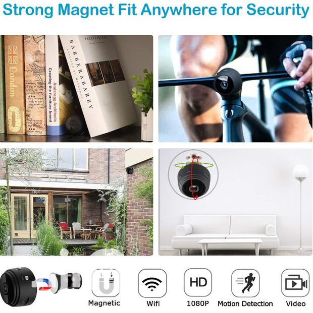 Wifi Hidden Spy Camera,Mini Spy Camera HD 1080P Wireless
